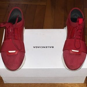 Balenciaga red race runners